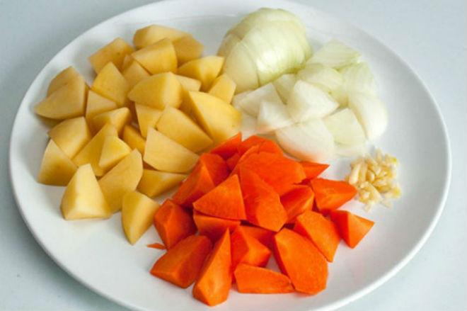 khoai tây cà rốt