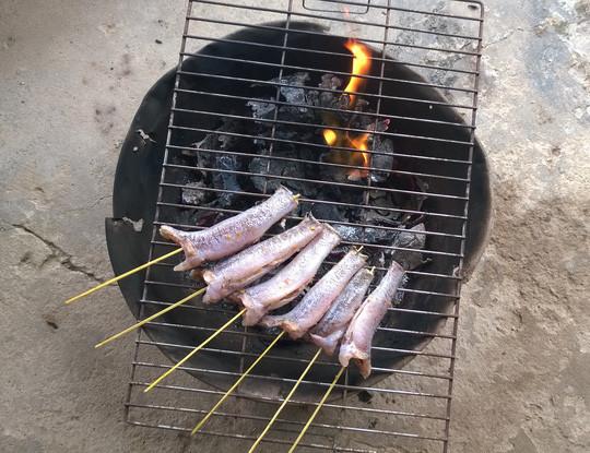 cá bống nướng than