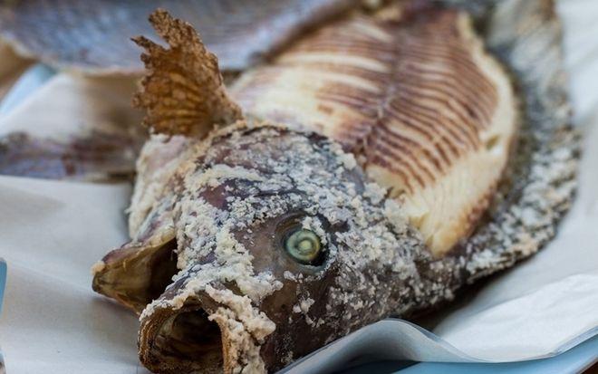 cá nướng muối hột