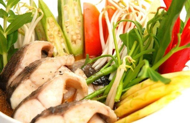 nguyên liệu canh chua cá lóc