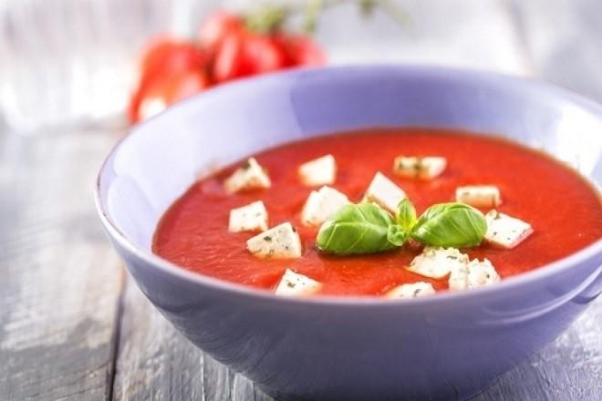 cháo đậu hũ cà chua