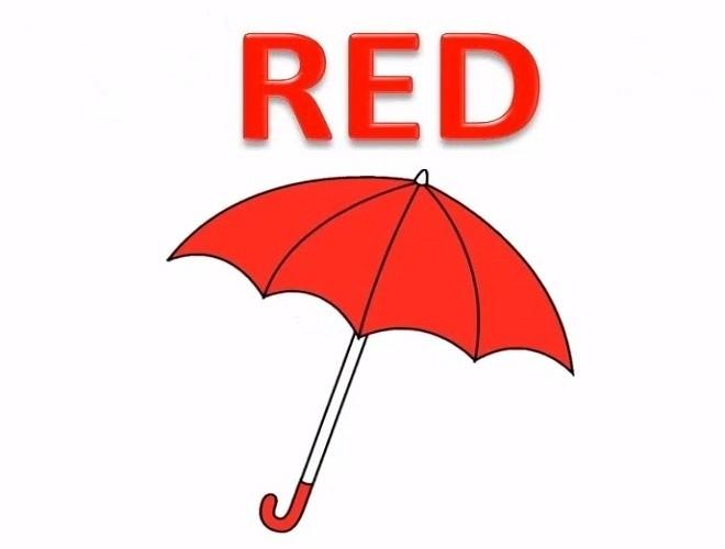 dù màu đỏ