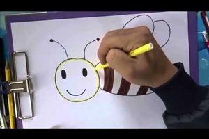 Dạy bé vẽ hình ong vàng ngộ nghĩnh đơn giản