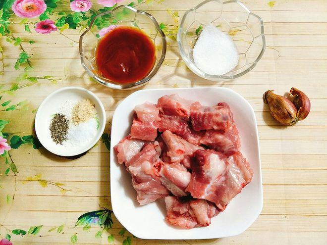 nguyên liệu sườn xào chua ngọt miền Bắc
