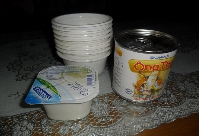 một số nguyên liệu để làm sữa chua