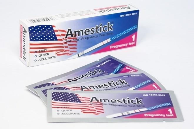 Que thử thai Amestick cũng liệt kê vào danh sách các que thử tốt