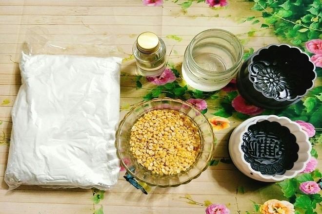 chuẩn bị nguyên liệu làm bánh trung thu nhân đậu xanh