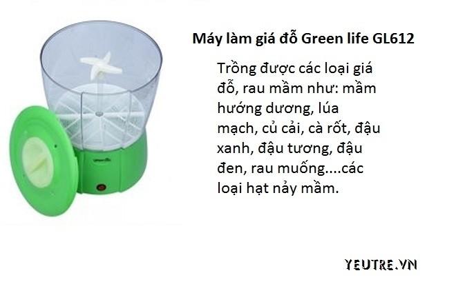 cấu trúc máy làm giá đỗ green life gl612