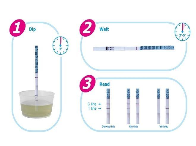 các bước dùng que thử tính ngày rụng trứng