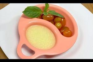 Cháo trứng cà chua cho bé - Món ăn cho bé tập ăn dặm