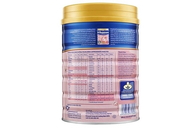 thành phần của sữa frisomum gold