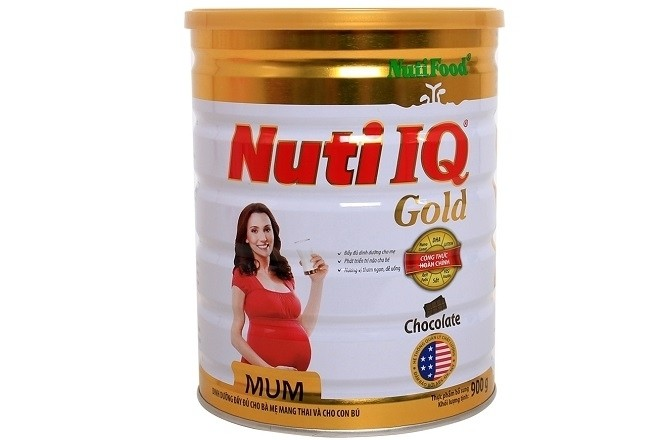 hộp sữa nutifood nuti iq mum gold socola