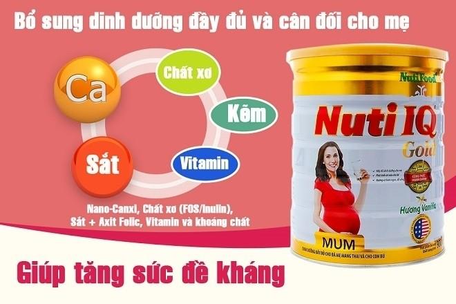 tác dụng sữa bầu nuti iq mum gold
