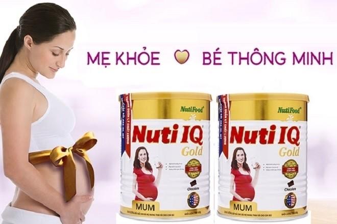 sữa bầu nuti iq mum gold cho bà bầu