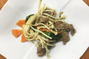 Nấm kim châm xào thịt bò sa tế - Món ngon đổi vị chống ngán dành cho bà bầu