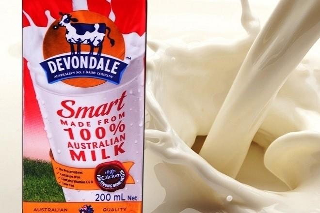 sữa tươi không đường tách béo devondale smart