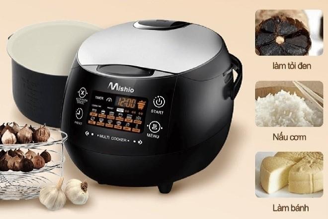 máy làm tỏi đen asia Mishio giúp người dùng chế biến được nhiều món hấp dẫn bên cạnh tỏi đen
