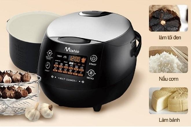 máy làm tỏi đen mishio MK)3 được tích hợp đa chức năng nấu ăn tự động