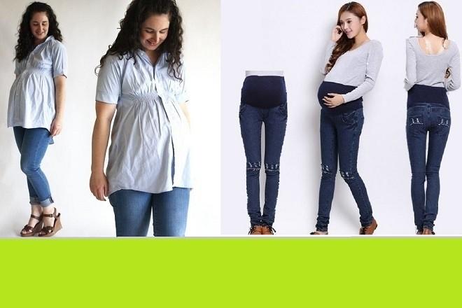 quần jean cho bà bầu