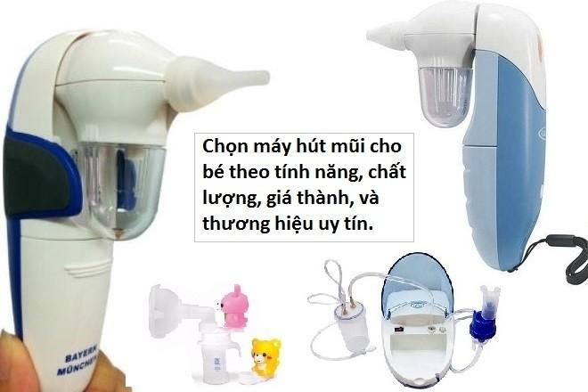 các loại máy hút mũi cho trẻ sơ sinh