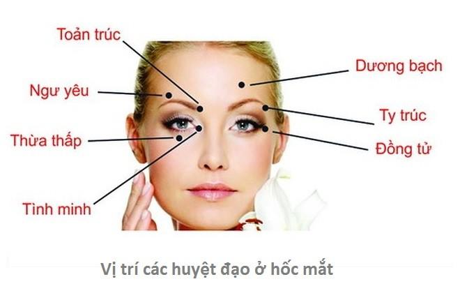 các huyệt đạo trên mắt