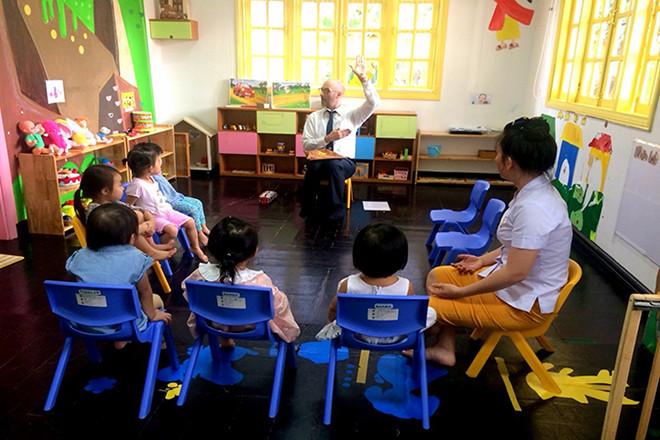 Trong giờ học song ngữ tại Kindy Town