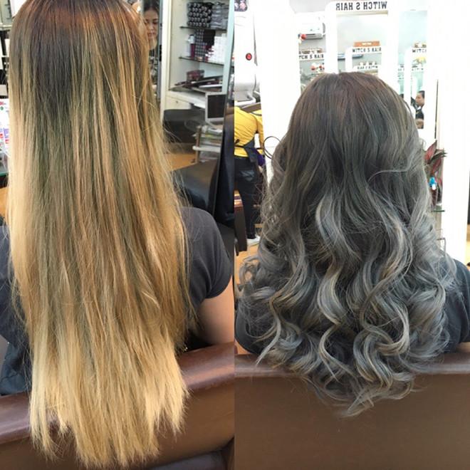 Hình ảnh khách hàng nhuộm tóc tại Toc.vn