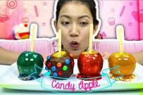 Cách làm kẹo táo Halloween