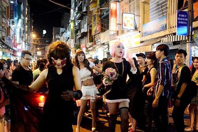 Halloween ở Phố Tây Bùi Viện Sài Gòn