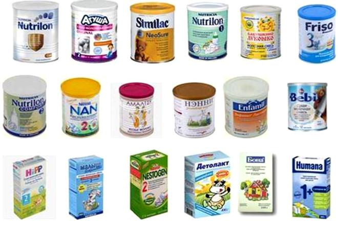 Các loại sữa công thức