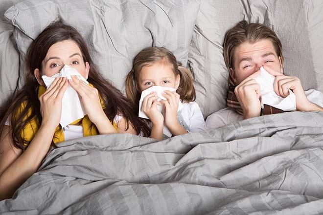 Cả nhà bị cúm
