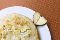Bánh cho bà bầu ăn sáng cực dễ làm - pancake táo