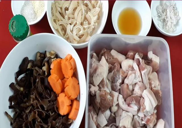 nguyên liệu nấu thịt nấu đông
