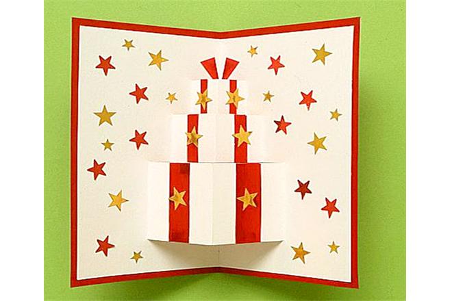 Thiệp noel 3d hộp quà