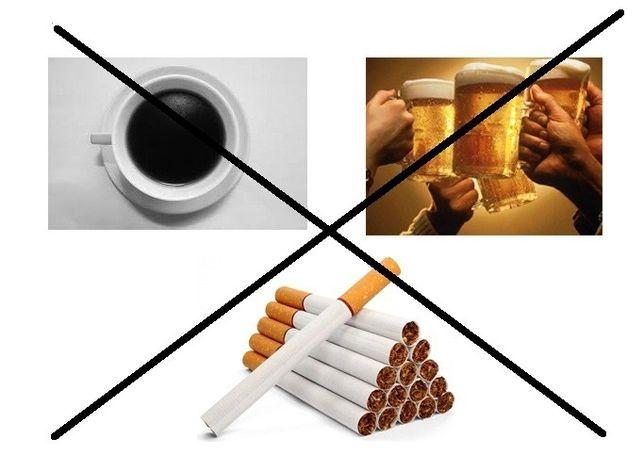 không sử dụng rượu bia và thuốc lá