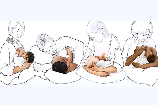 Các tư thế cho bé bú