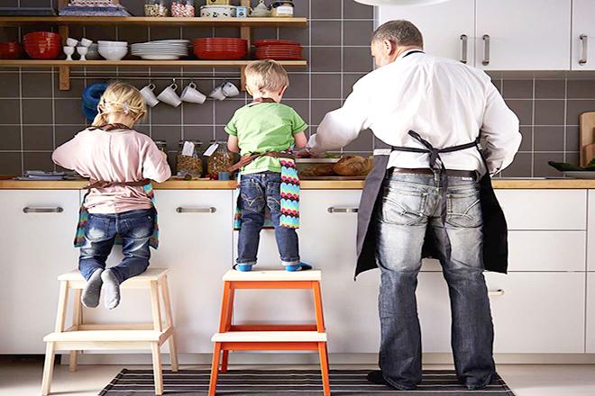 Ghi nhận lại hoạt động làm việc nhà cùng trẻ