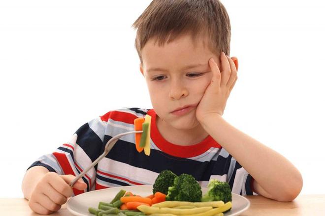 Chế độ ăn của trẻ thiếu sắt