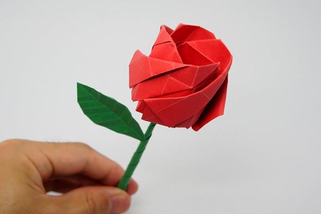 Bông hồng giấy