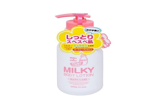 mamalabo milky body lotion chuyen duong da