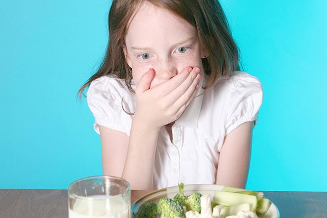 Trẻ nhạy cảm với thức ăn
