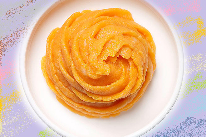 Khoai lang nghiền với củ cải vàng