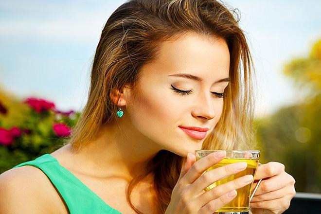Uống trà giảm cân nấm