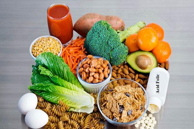 thực phẩm chứa acid folic