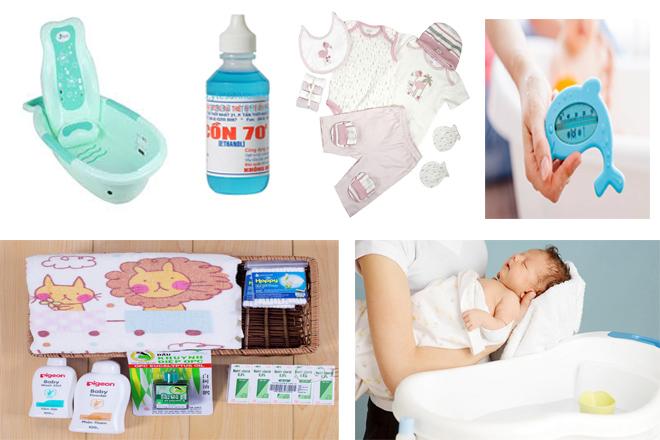 đồ dùng để tắm cho bé