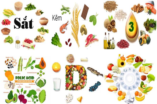dinh dưỡng cho sức khỏe sinh sản