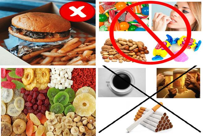 thực phẩm cần hạn chế