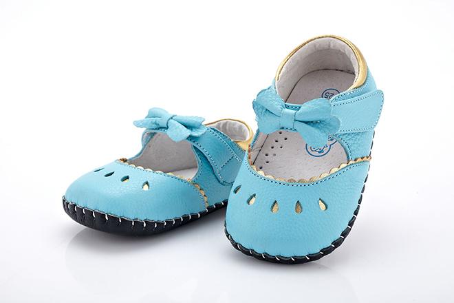 Giày da mũi tròn cho bé gái