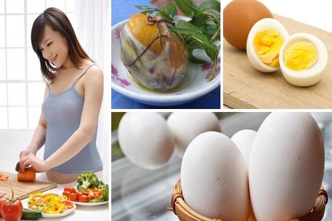 bầu ăn trứng