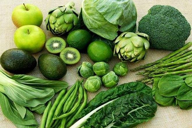 rau có màu xanh đậm